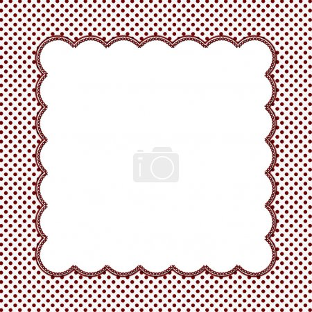 Red and White Polka Dot Frame Background