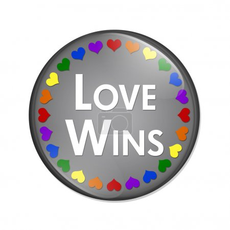 LGBT Love Wins Button