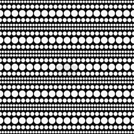 White and Black Polka Dot  Abstract Design Tile Pattern Repeat B