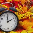 Autumn Time Change, Autumn Leaves and Alarm Clock ...