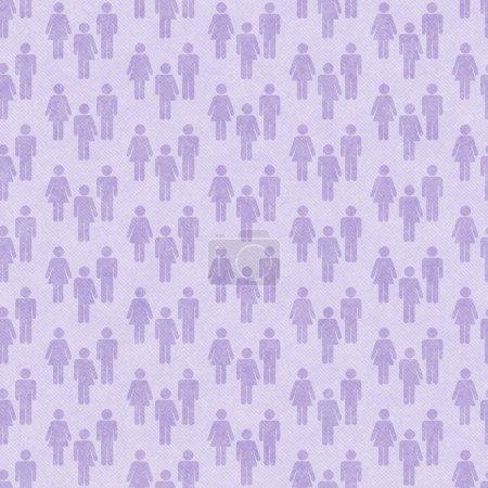 Photo pour Violet Transgenre Homme et femme Symbole Modèle de tuile Répétez Contexte qui est sans couture et répète - image libre de droit