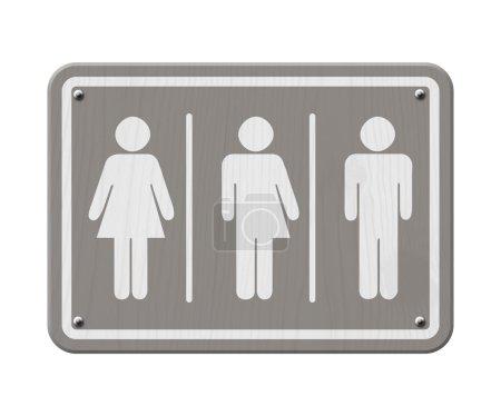 Gray and White Transgender Sign