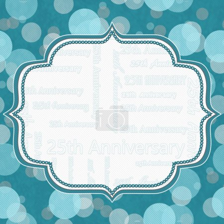 Teal and Gray Polka Dot 25th Anniversary Frame Background