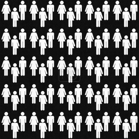 Photo pour Noir et blanc Transgenre Homme et femme Symbole Modèle de tuile Répétez Contexte qui est sans couture et répète - image libre de droit