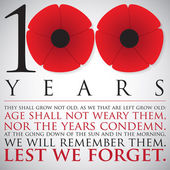 Remembrance/ ANZAC Day 100 years card in vector format