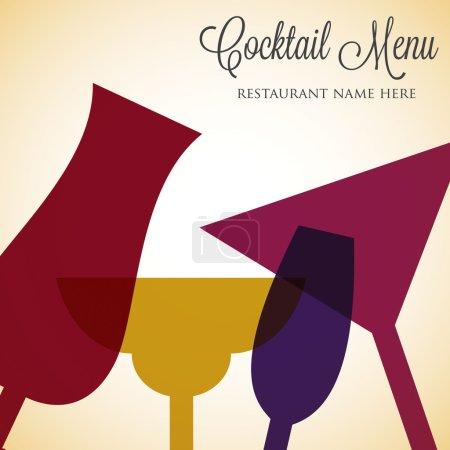 Retro overlay cocktail card