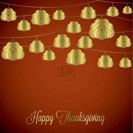 Elegant string Thanksgiving card