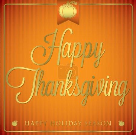 Typographic elegant thanksgiving card