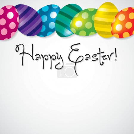 Illustration for Bright Egg Happy Easter card in vector format. - Royalty Free Image