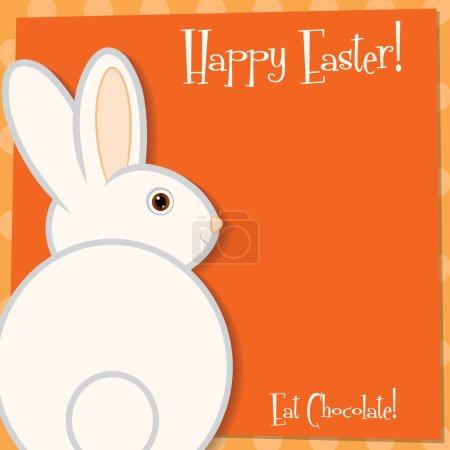 Illustration pour Funky carte de lapin de Pâques en format vectoriel. - image libre de droit