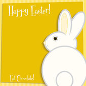 Funky Easter bunny card in vector format