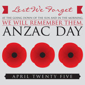 ANZAC (Australia New Zealand Army Corps) Day card in vector format
