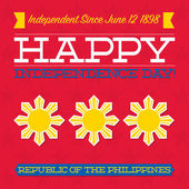 Philippines Independence Day card in vector format