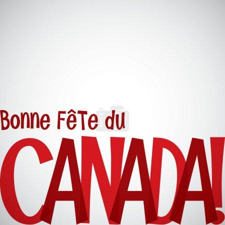 Bonne Fete du Canada card