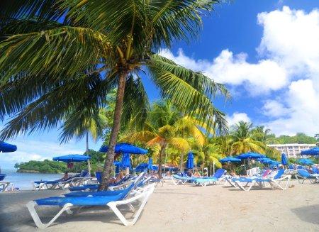 Photo pour Exotique resort à Sainte-Lucie, Caraïbes - image libre de droit