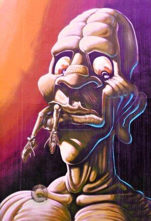 Monster graffiti