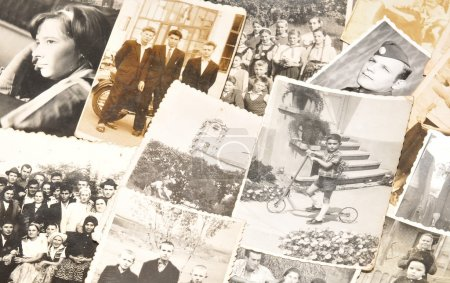 Photo for Collection of old family photos - Royalty Free Image