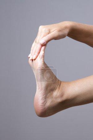 Massage of female feet