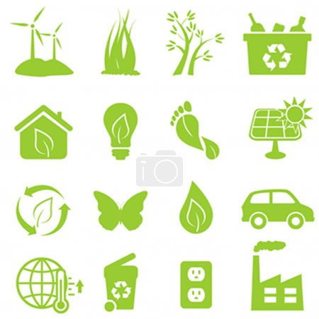 Illustration for Eco and environment icon set - Royalty Free Image