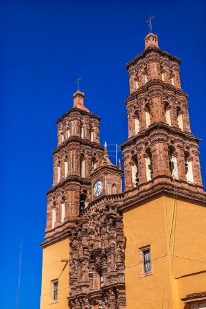Christmas Parroquia Cathedral Spires Bell Towers Dolores Hidalal