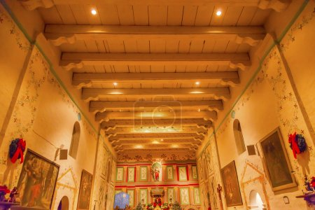Old Mission Santa Ines Solvang California Basilica Altar Cross a