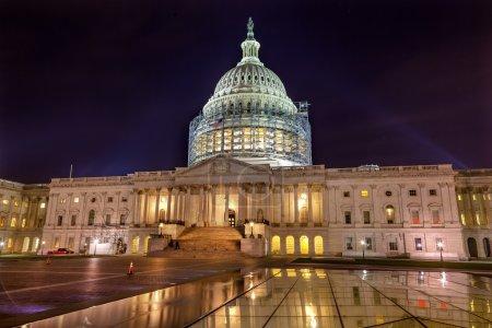 US Capitol North Side Construction Night Stars Washington DC Ref