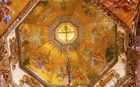 Dome Mosaics Old Basilica Guadalupe Mexico City Mexico