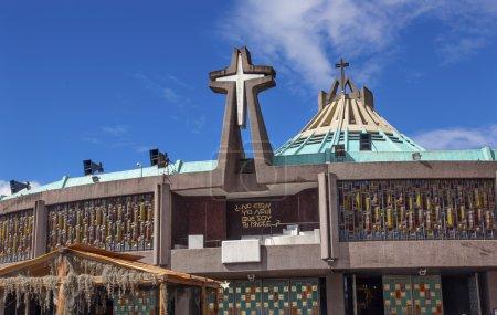 Photo pour Nouvelle Basilique Christmas Creche Sanctuaire de la Guadalupe Mexico City Mexique. Aussi connu sous le nom de Basilique de Nuestra de la Senora Guadalupe. La construction de la basilique a commencé en 1972, terminée en 1974. Cette basilique est l'endroit où la Vierge Marie apparaît - image libre de droit