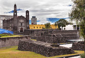 Plaza of Three Cultures Aztec Archaelogical Site Mexico City Mex