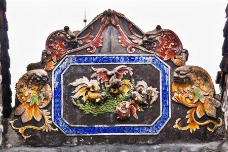 Ceramic Carp Figures Dragons Chen Ancestral Taoist Temple Guangz