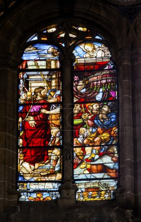 Jesus in Ropes on the Way to Cross  Stained Glass Salamanca New