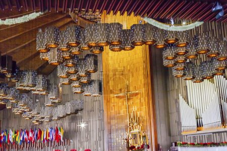 New Shrine of the Guadalupe Basilica with Original Guadalupe Pai