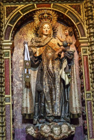 Virgin Mary Wooden Statue San Juan Bautista Church Avila Castile