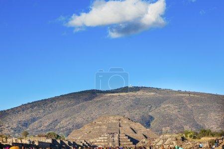 Moon Pyramid Avenue of Dead Teotihuacan Mexico City Mexico