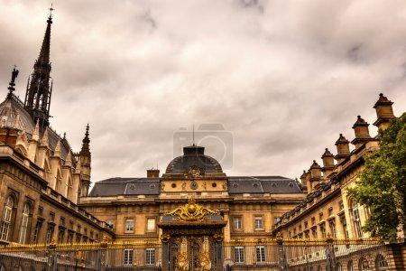 Sainte Chapelle Cathedral Justice Palace Paris France