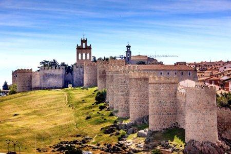 Avila Ancient Medieval City Walls Castile Spain