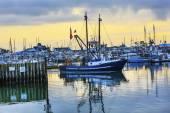 Velké rybářské lodi Westport Grays Harbor státu Washington