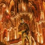 Father Juan de San Miiguel Statue Facade Night Lig...
