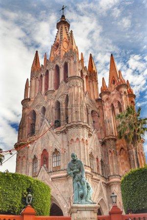 Father Juan de San Miiguel Statue Facade Parroquia...
