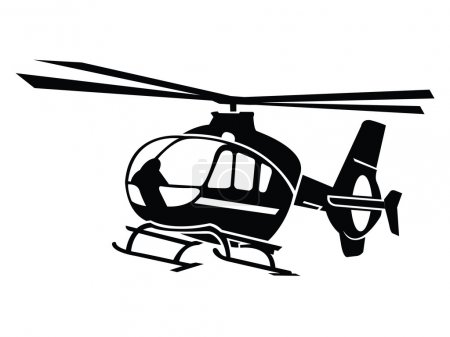 Illustration for Helicopter Symbol - Royalty Free Image