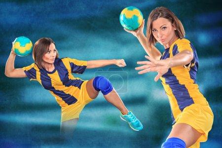 girl playing handball