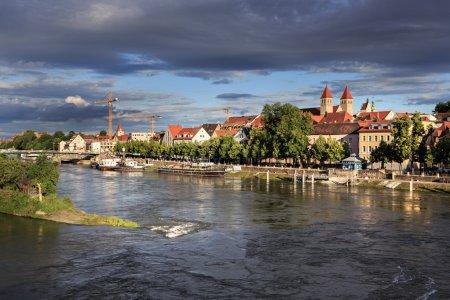 rive du fleuve Danube en Regensbur