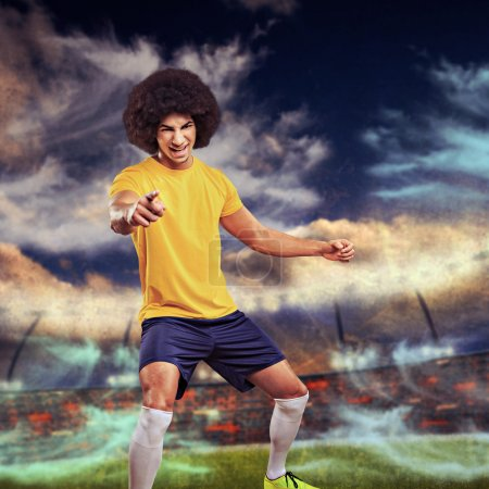 the soccer player