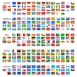All Vector World Country Flags at High Detail Divi...