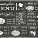 A full vector template Chalkboard menu for restaur...