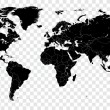 High Detail Vector Political World Map illustratio...