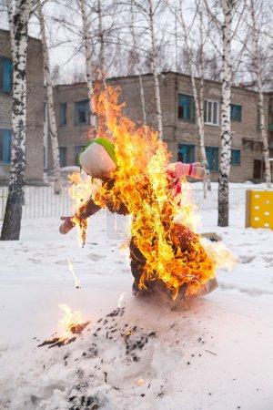 Burning effigy on Shrovetide