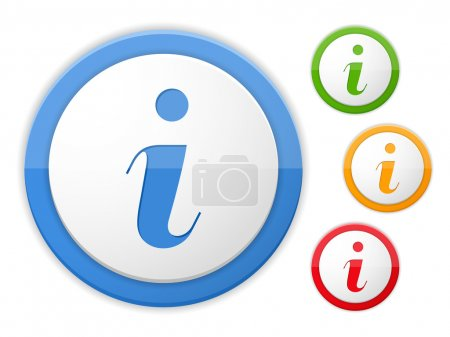 Illustration for Information icon, four colors, vector eps10 illustration - Royalty Free Image