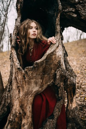 Witch in forest
