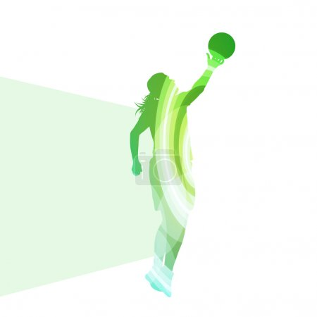 Basketball female woman player silhouette illustration vector ba